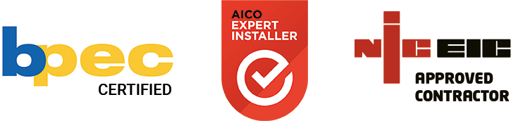 bpec certified aico expert installer niceic approved contractor